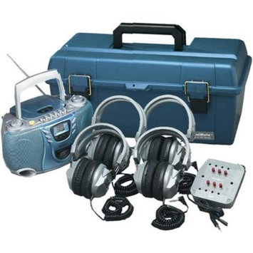 Hamilton Buhl LCPCD3854SV 4-User CD/Cassette Headphone Lab Pack