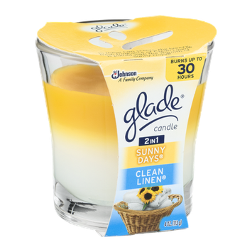 Glade 2 In 1 Candle Sunny Days and Clean Linen