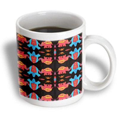 Recaro North 3dRose - Florene Children s Art - What s Up With The Elephants - 11 oz mug