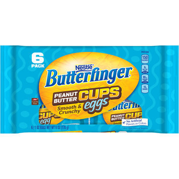BUTTERFINGER Peanut Butter Cups Egg, 6 Pack, 6 oz.