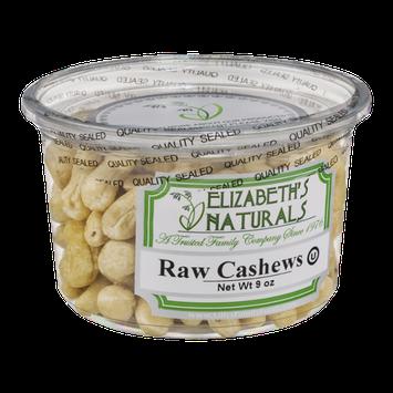 Elizabeth's Naturals Raw Cashews