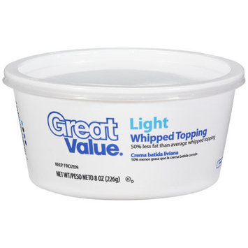 Great Value Fat Free Whipped Topping, 8 oz