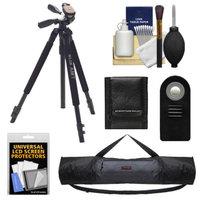 Slik 330 DX Pro Series Black Tripod 3Way Pan/Tilt Head & Quick Release with Tripod Case + RC-6 Remote + Accessory Kit for Canon Rebel T2i, T3i, T4i, EOS 60D, 6D, & 7D Digital SLR Cameras