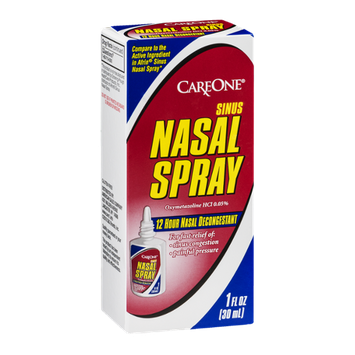 CareOne Nasal Spray Sinus 12 Hour Nasal Decongestant