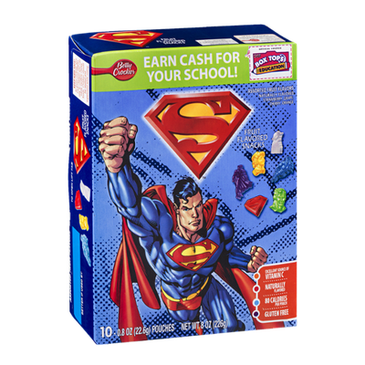 Betty Crocker Superman Fruit Flavored Snacks - 10 CT