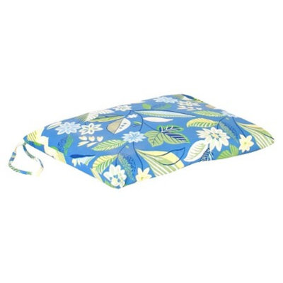 Jordan Outdoor Single Swing/Glider Cushion - Blue/Green Floral