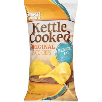Wal-mart Stores, Inc. Great Value Kettle Cooked Reduced Fat Original Potato Chips, 8 oz
