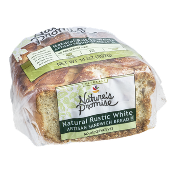 Nature's Promise Artisan Sandwich Bread Natural Rustic White