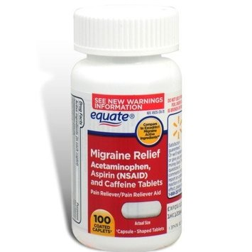 Equate - Migraine Relief, 100 Coated Caplets (Compare to Excedrin)