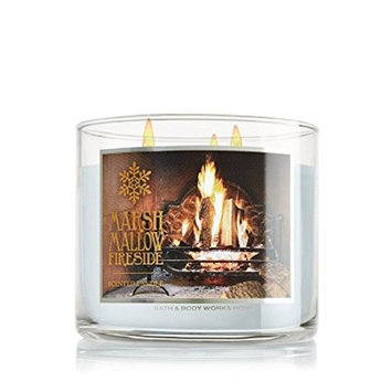 White Barn Bath & Body Works Marshmallow Fireside 3 Wick Scented Candle 2014