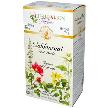 Celebration Herbals Organic Goldenseal Root Powder Bulk Tea Caffeine Free 28 g