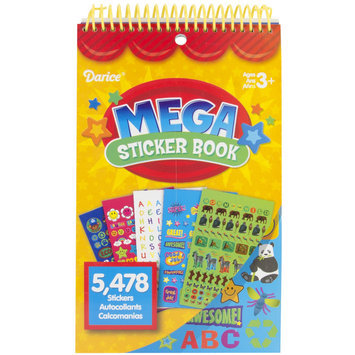 Darice Inc Darice Mega Sticker Book Teacher 5,478/Pkg