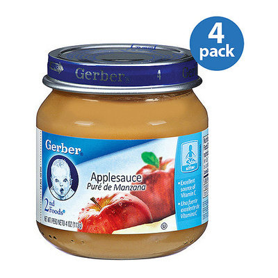 Gerber 2nd Foods Baby Foods Applesauce 4 oz (Pack of 4)