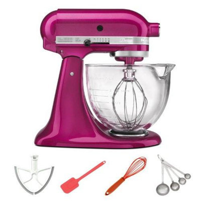 KitchenAid KSM155GBRI 5-Quart Artisan Design Series Stand Mixer Rasberry Ice + M