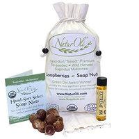 NaturOli Soap Nuts / Soap Berries. 1-Lb USDA ORGANIC + 18X BONUS! Select Seedless. Wash Bag, Tote Bag, 8-pg info. Organic Laundry Soap / Natural Cleaner. Processed in USA!
