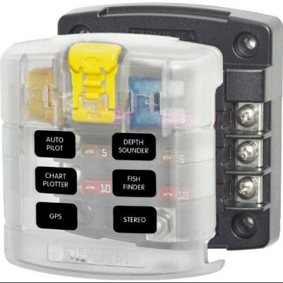 Blue Sea Systems 5028 ST Blade Fuse Block w/ Cover