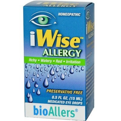 Natra-bio NatraBio Botanical Labs Iwise Allergy Eye Drops -- 0.5 fl oz