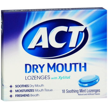 ACT Total Care Dry Mouth Lozenges Soothing Mint
