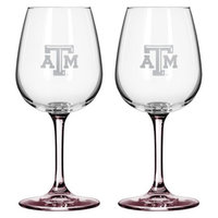 NCAA Texas A&M Aggies Boelter Brands 2 Pack Satin Etch Wine Glass - 12 oz