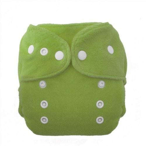 Thirsties Duo Fab Fitted Snap Cloth Diapers, Meadow, Size Two (18-40 lbs)
