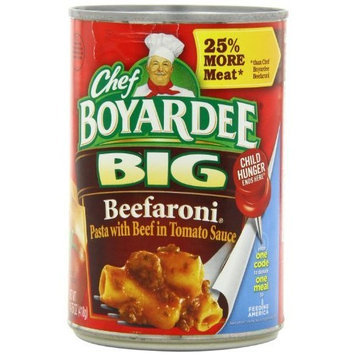 Chef's Secret Chef Boyardee Big Beefaroni, 14.75-Ounce Cans (Pack of 12)