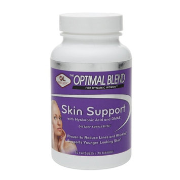 Olympian Labs Optimal Blend Skin Support with Hyaluronic Acid & DMAE Capsules, 40 ea
