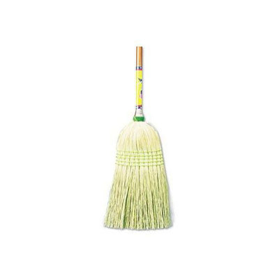 UNISAN Parlor Broom with Corn Fiber Bristles and Wood Handle