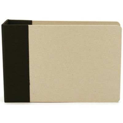 American Crafts 6x6 Modern D-Ring Album Black