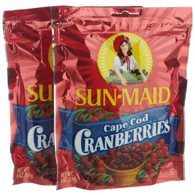 Sun-Maid Sun Maid Cape Cod Cranberries, 6-Ounce Bags (Pack of 6)