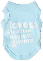 Ahi Love is a Four Leg Word Screen Print Shirt Baby Blue XS (8)