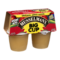 Musselman's Apple Sauce Big Cup Original - 4 CT