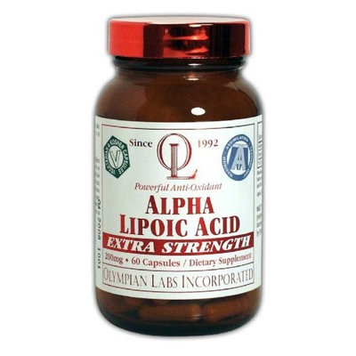 Olympian Labs Alpha Lipoic Acid 200mg, 60 Veg. Capsules, (Pack of 2)