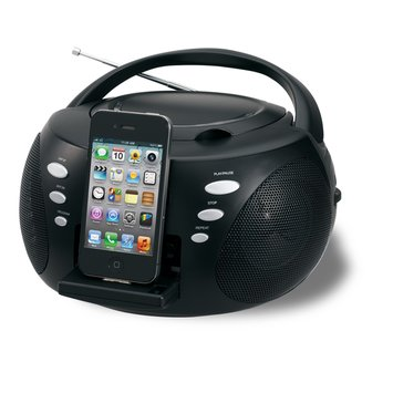 Jensen Portable CD Docking System For iPod And iPhone