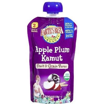 Earth's Best 2nd Foods Fruit & Grain - Apple Plum Kamut - 4.2 oz - 6 pk