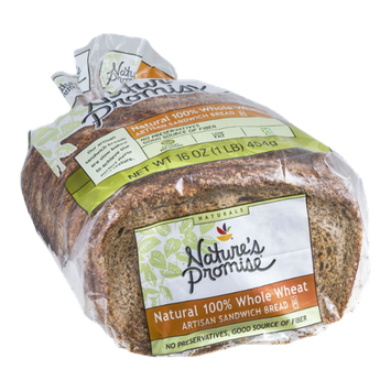 Nature's Promise Artisan Sandwich Bread Natural 100% Whole Wheat