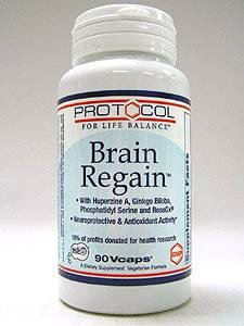 Brain Regain 90 vcaps by Protocol For Life Balance