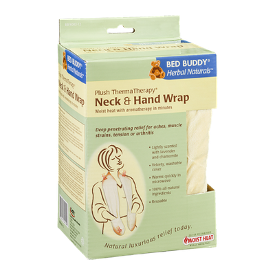 Bed Buddy Herbal Naturals Plush ThermaTherapy Neck & Hand Wrap