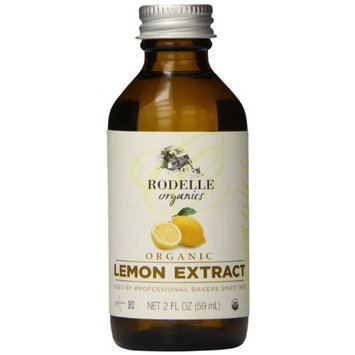 Rodelle Organics Pure Lemon Extract, 2-Ounce (Pack of 6)