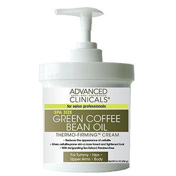 Advanced Clinicals Green Coffee Bean Oil Thermo-firming Cream 16oz Spa Size []
