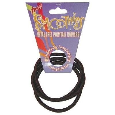 Smoothies Regular Metal Free Pony Tail Holders - Black Combo