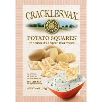 Natural Nectar Cracklesnax Potato Squares, 4-Ounce Bags (Pack of 9)