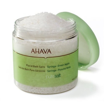 AHAVA Pure Spa Placid Bath Salts, Syringa - Green Apple, 17.5 oz.