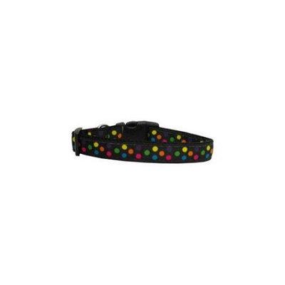 Ahi Black Multi-Dot Dog Collar Medium