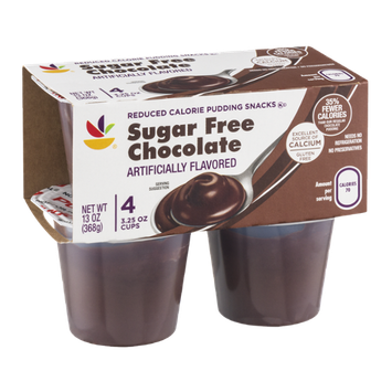 Ahold Pudding Snacks Sugar Free Chocolate - 4 CT