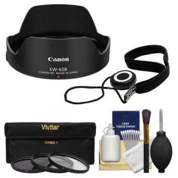 Canon EW-65B Lens Hood for EF 24mm & EF 28mm f/2.8 IS USM with 3 (UV/CPL/ND8) Filters + Accessory Kit