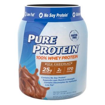 Pure Protein 100% Whey Protein Shake Powder Rich Chocolate