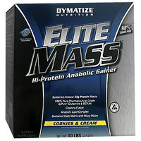 Dymatize Nutrition Elite Mass Hi-Protein Anabolic Gainer Diet Powder