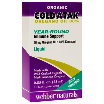 Cold Atak Oregano Oil 80% Year-Round Immune Support
