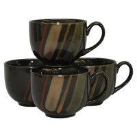Sango Avanti Jumbo Mugs Set of 4 - Black
