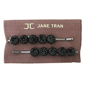 Jane Tran Hair Accessories Round Crystal Bead Bobby Pins